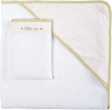 Capa de baño de bebé de algodón blanco