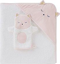 Capa de baño para bebé de algodón blanco con