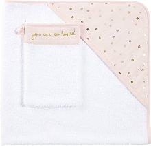 Capa de baño para bebé de algodón rosa con
