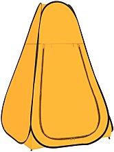 Carpa de ducha emergente amarilla - Vidaxl