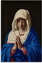 Cartel de pintura al óleo del arte barroco