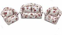 Casa de muñecas del sofá, 1:12 Escala Floral