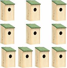 Casa para pajaros 10 unidades madera maciza de