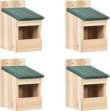 Casa para pajaros 4 unidades madera de abeto