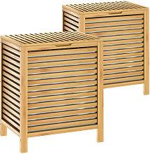 Casaria Cesto para la ropa sucia de Bambú 62L