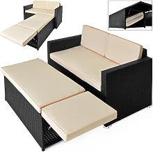 Casaria Conjunto de muebles de jardín Sofa de 2