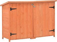 Caseta de almacenamiento de jardín de madera