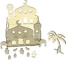 Castillo de madera DIY artesania decoracion del
