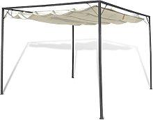 Cenador de jardín con tejado toldo retráctil -