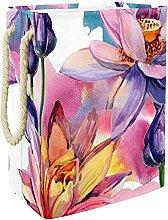Cesta de Almacenamiento Flores Coloridas Cesto de