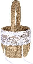 cesta de flores, cesta de flores del Bowknot de la