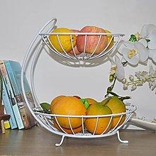 Cesta de frutas de doble capa creativa de hierro