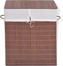 Cesto de la ropa de bambú rectangulararrón Vida