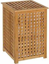 Cesto de Ropa nórdico marrón de bambú para