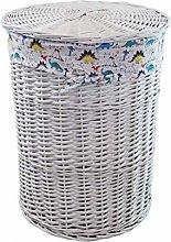 Cesto para la ropa sucia (mimbre, 46 x 62 cm),