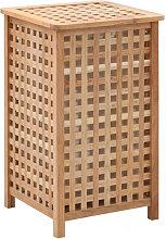 Cesto para ropa sucia 39x39x65 cm madera maciza de