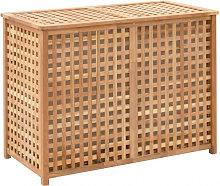 Cesto para ropa sucia 87x46x67 cm madera maciza de