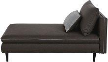 Chaise longue modular gris oscuro