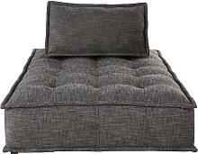 Chaise longue para sofá modular gris carbón