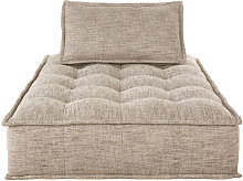 Chaise longue para sofá modular marrón