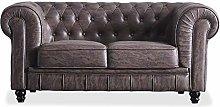 Chesterfield, Sofa de Dos plazas, Sillon Descanso,