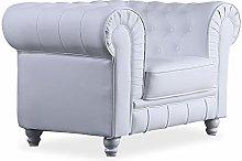 Chesterfield, Sofa Individual de una Plaza, Sillon
