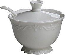 Con pie de frutero de platos de porcelana de colour blanco Provence de Chic Antique