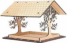 Chiyyak Pajarera de madera, comedero para