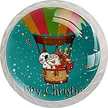 Christmas Santa Snowman Elk Deer On Balloon 4