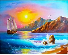 CHXFit Pintura al óleo por números Paisaje Junto
