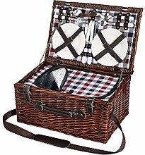 Cilio 155259 Varese Cesta de picnic marrón oscuro