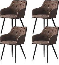 CLIPOP - Juego de 4 sillas de Comedor de Piel