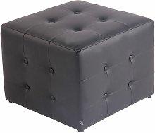 CLP - Taburete Otomana Cubic Negro