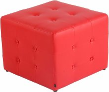 CLP - Taburete Otomana Cubic Rojo