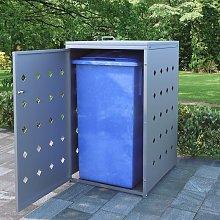 Cobertizo contenedor de basura individual acero