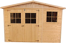 Cobertizo de madera para jardín - 324x316cm/9m²
