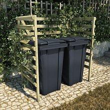 Cobertizo doble basura 140x80x150 cm madera pino