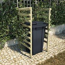 Cobertizo individual basura 70x80x150cm madera