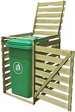 Cobertizo para contenedor de basura de madera