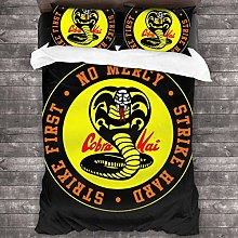 Cobra Kai Snake Logo No Mercy Juego de Cama de 3