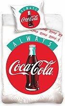 Coca-Cola - Juego de cama (100% algodón, funda