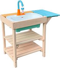 Cocina de madera de juguete para niños adecuada