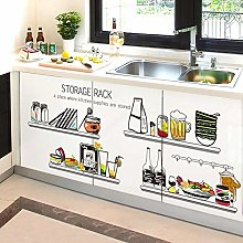 Cocina decorativa creativa nevera pegatinas papel