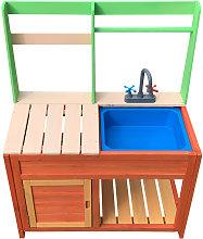 Cocina para niños 72x39,5x91,1cm de madera, para