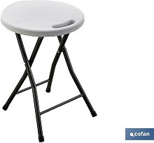 Cofan - TABURETE PLEGABLE BLANCO 33X30X46CM -