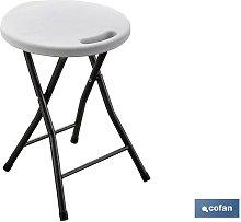 Cofan - TABURETE PLEGABLE BLANCO 33X30X46CM