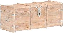 Cofre de almacenamiento madera maciza de acacia