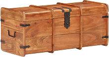 Cofre de almacenamiento madera maciza de acacia 90x40x40 cm