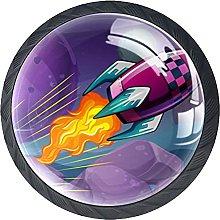 Cohete púrpura que vuela sobre el gabinete de la