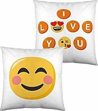 Cojín Con Relleno Emoji I Love You (40 X 40 Cm)